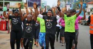 Massive turnout for Walkers Club Kwesé Health and Fitness activation in Accra Ghana