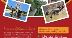 Ghanam Tours invites you to Ghana for business, pleasure or education