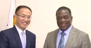 Chinese envoy assures Mnangagwa of China support for Zimbabwe