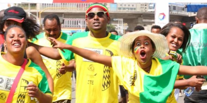 17th Edition of annual Great Ethiopian Run, where carnival and elite athletes mix