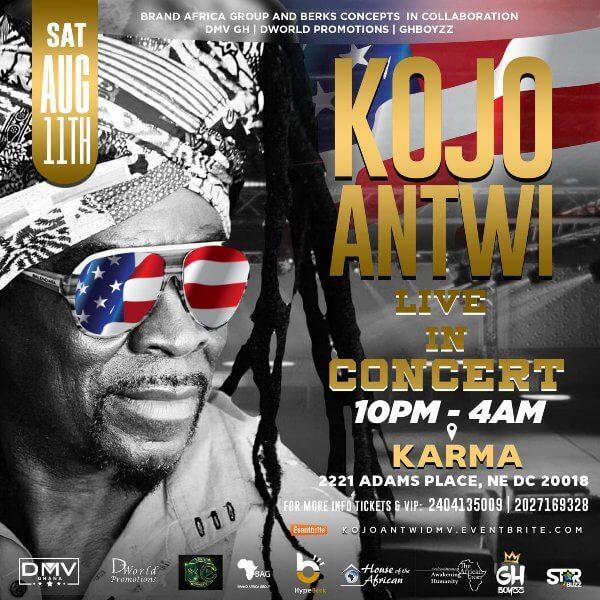 Music legend Kojo Antwi of Ghana on a multi-city lyrical