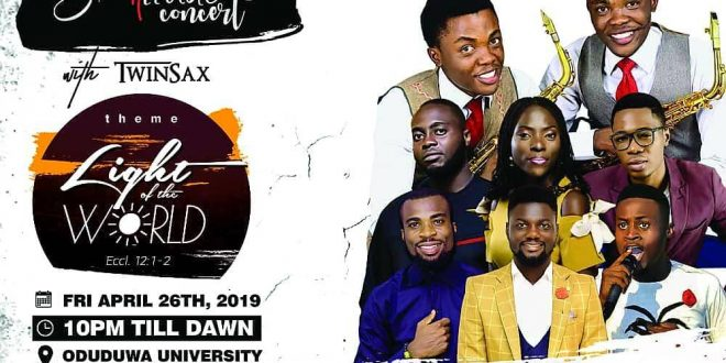 "Gratitude Concert 2019 with Twinsax themed ""Light of the world"""