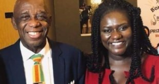 Dr. Mensah (left) pictured with Dentaa of GUBA Awards