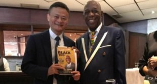 Fiber optics innovator Dr Mensah of Ghana meets Chinese billionaire Jack Ma