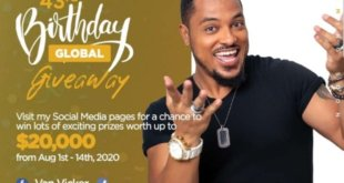 Iconic Ghanaian actor/philanthropist kicks off 'The Van Vicker 43rd Birthday Global Giveaway'