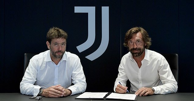 Juventus announce Pirlo as new manager