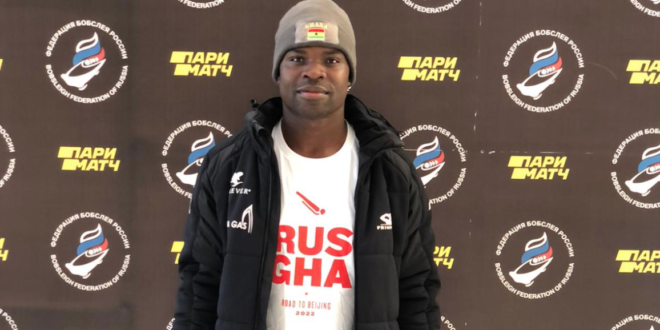 Winter Olympian Akwasi Frimpong joins Russia for Beijing 2022 with Ghana in mind