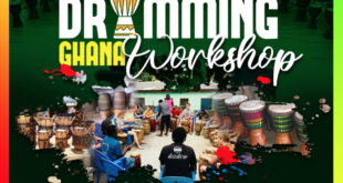 Drumming Ghana Workshop to Celebrate Traditional Ghanaian Styles of Music