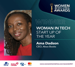 AkooBooks Audio wins Woman In Tech Startup of The Year Award